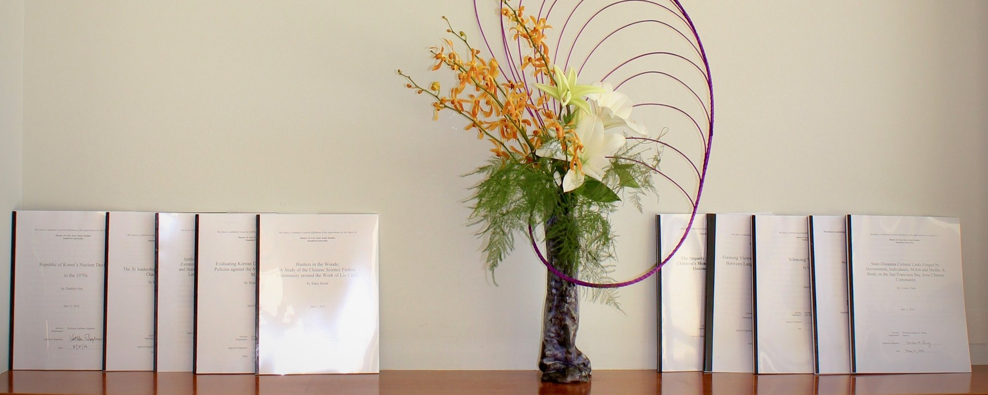 Photo of ikebana, and theses