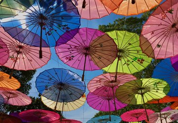 various Chinese umbrella